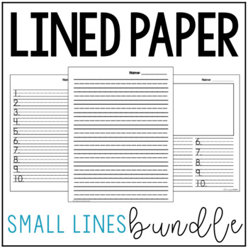 Small Lined Paper Bundle