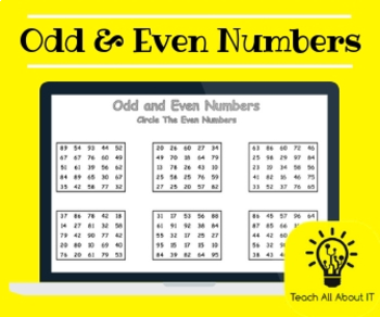 Primary Odd & Even Numbers