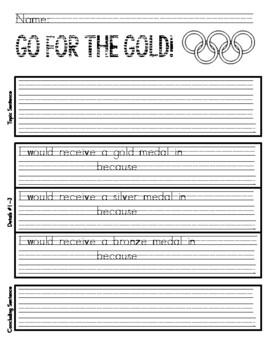 Primary Olympics writing