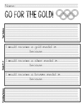 Primary Olympics writing
