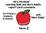 Primary Ontario Learning Skills Report Card Comments Next