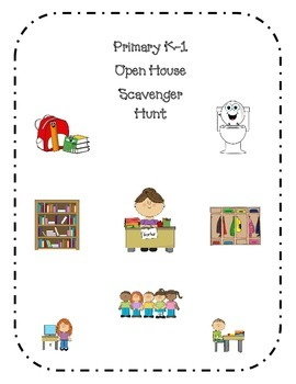 Primary Open House Scavenger Hunt