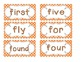 Primary Orange Polka Dot Word Wall Cards