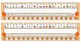 Primary Orange Zebra Print Desk Reference Nameplates
