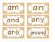 Primary Orange Zebra Print Word Wall Cards
