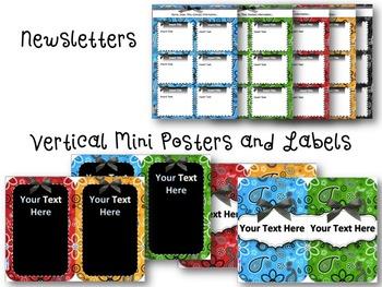 Primary Paisley Editable Classroom Decor Tool Pack
