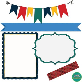 Digital Paper and Frame Set- Primary