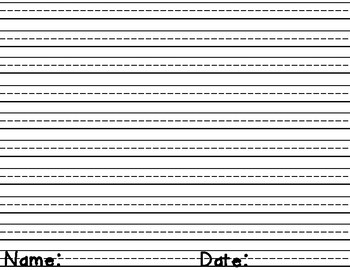 Primary Papers- Handwriting and Story Papers for grades k-2