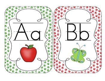 Primary Paw Prints Alphabet Cards