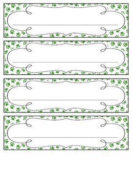 Primary Paw Prints Nameplates