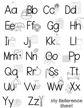 Primary Perfect Alphabet & Student Reference Sheets