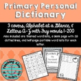 Primary Personal Dictionary