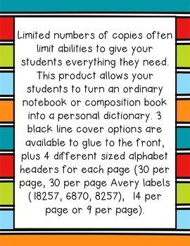 Primary Personal Dictionary - Copy Saver