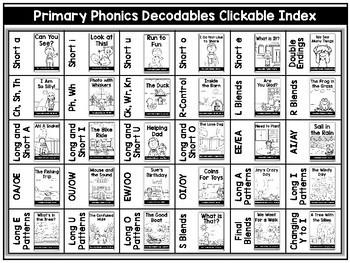 Primary Phonics Decodable Books  - First Grade Phonics