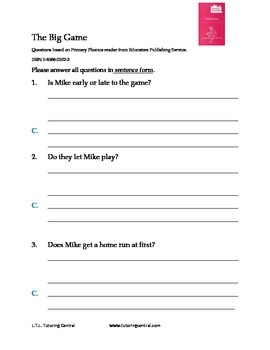 Primary Phonics short story questions