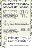 Primary Physical Education Games Grades 1-3