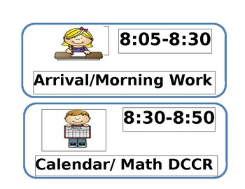 Primary Picture Schedule