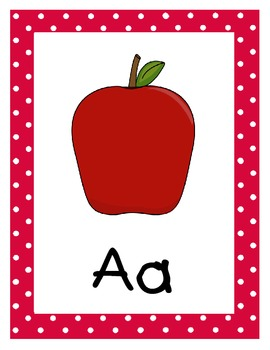 Primary Polka Dot Alphabet Cards