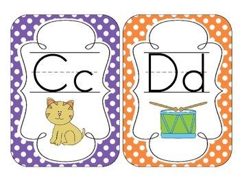 Primary Polka Dot Alphabet Cards