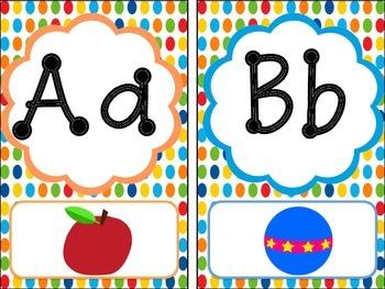 Primary Polka Dot Alphabet Line