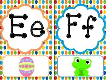Alphabet Line: Primary Polka Dot