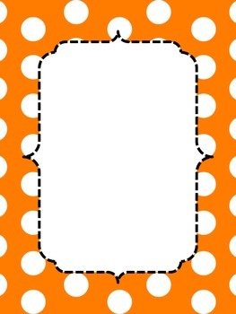 Primary Polka Dot Border Posters