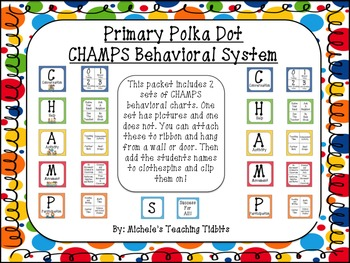 CHAMPS Behavioral Chart: Primary Polka Dot