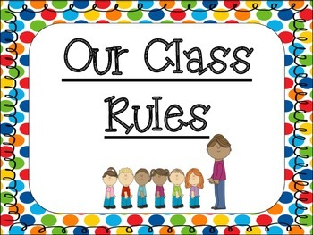 Class Rules: Primary Polka Dot