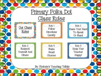 Primary Polka Dot Class Rules