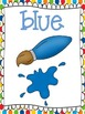 Color Word Posters: Primary Polka Dot