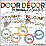 Door Decor: Primary Polka Dot