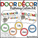 Door Decor: Primary Polka Dot