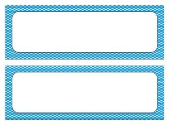 Label and Tag Set: Primary Polka Dot EDITABLE