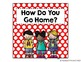 "Primary Polka Dot ""How Do You Get Home?"" Clip Chart {with white labels}"