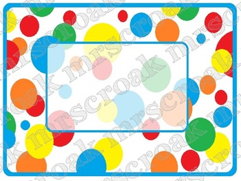 Labels: Primary Polka Dots, 10 per page