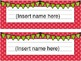 Primary Polka Dot Name Plates - Editable