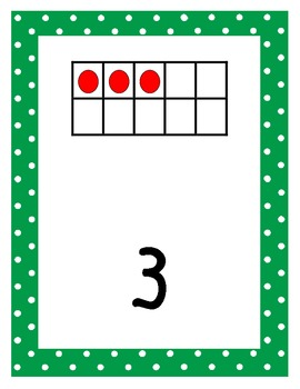 Primary Polka Dot Number Cards