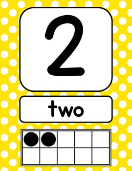 Primary Polka Dot Number Signs {with counting points}