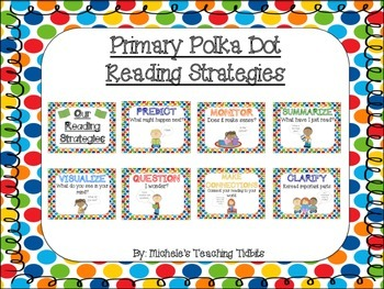 Primary Polka Dot Reading Strategies