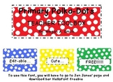 Primary Polka Dot Toolbox Template FREE