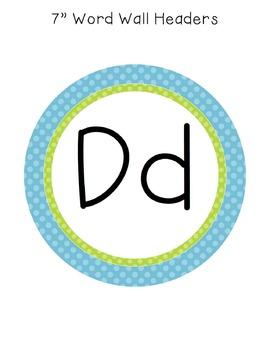 Primary Polka Dot Word Wall