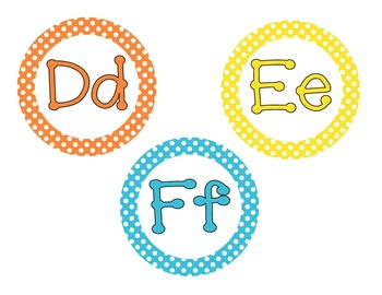Primary Polka Dot Word Wall Cards