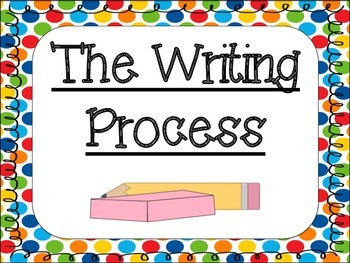 Writing Process Posters: Primary Polka Dot