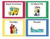 Primary Polka Dots Book Bin Labels with Individual Book Lables Set 2
