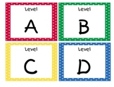 Primary Polka Dots Guided Reading/Leveled Library Labels