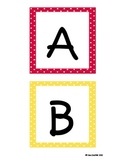 Primary Polka Dots Word Wall Labels