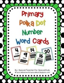 Primary  Polka Dot  Number Signs 0-20 (5 color options)