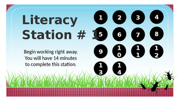 Primary Power Point Timer for Literacy Stations