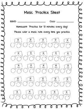 Primary Practice Sheet
