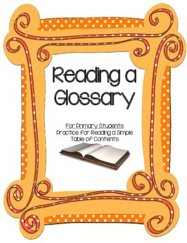 Primary Practice for Reading a Glossary